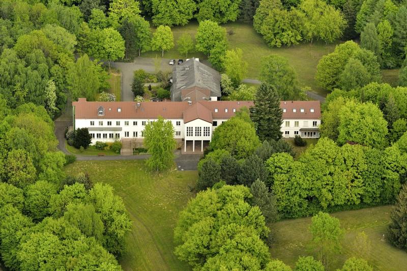 Das Haus der Hegge, Luftbild, Ansicht von Südwest