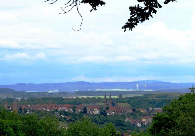 Blick vom Büraberg auf Fritzlar