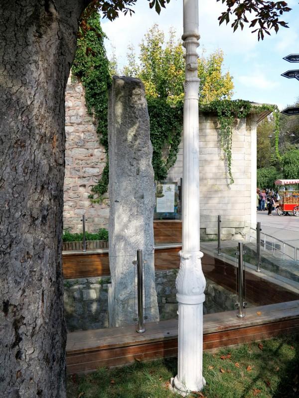 zentraler Meilenstein des römischen Reiches am Platz des Augusteion
