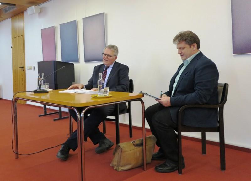 Prof. DDr. Thomas Sternberg und Damian Lazarek