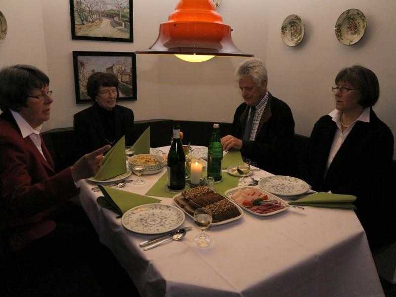 Agapemahl am Gründonnerstag-Abend