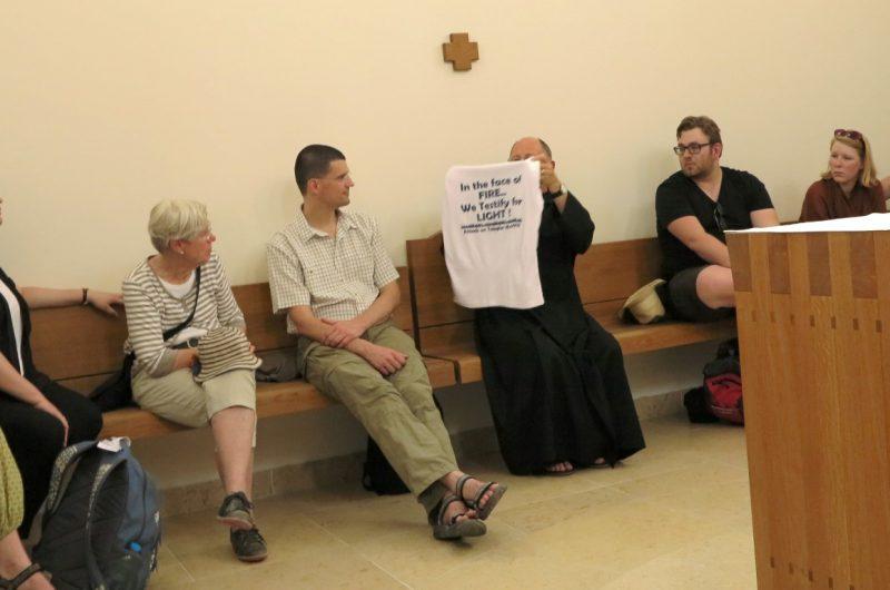 Begegnung mit den Benediktinern in Tabgha
