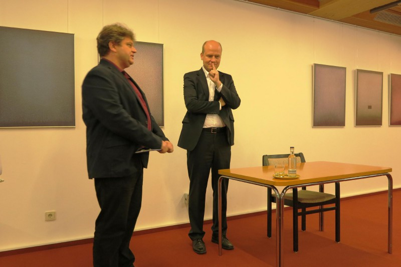 MdB Ralph Brinkhaus , Damian Lazarel (l.)