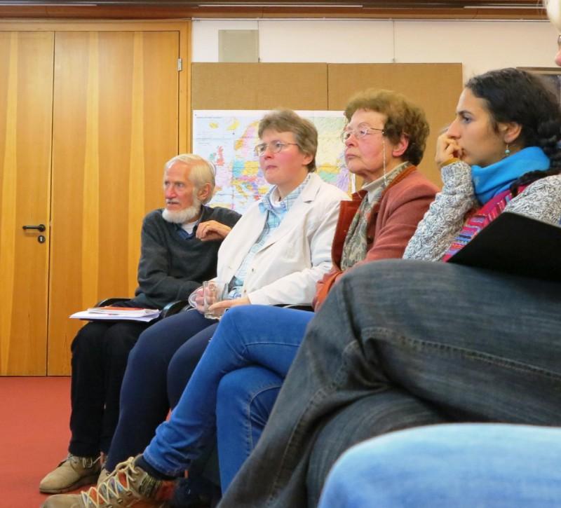v.l.n.re. Rupert Neudeck, Dorothee Mann, Dr. Anna Ulrich, Dunja Khoury