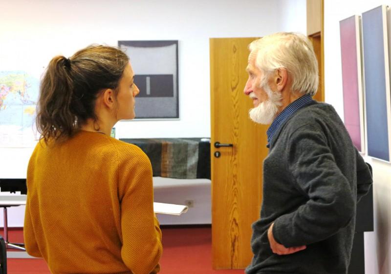 Miriam Faßbender im Gespräch mit Rupert Neudeck