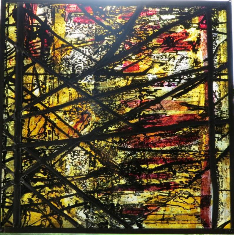 Grohs, Günter o.T., 2015 Glasmalerei auf Echt-Antikglas, Bleiverglasung, Glasmalerei Peters Paderborn