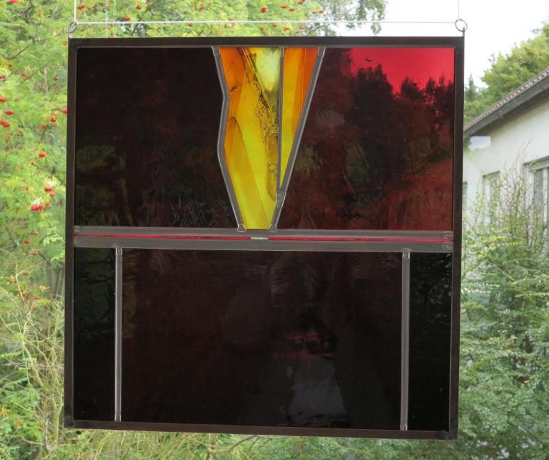 Bente, Gerlach,  o.T. 2015, Bleiverglasung mit Malerei, Glasmalerei Peters, Paderborn/Gerlach Bente