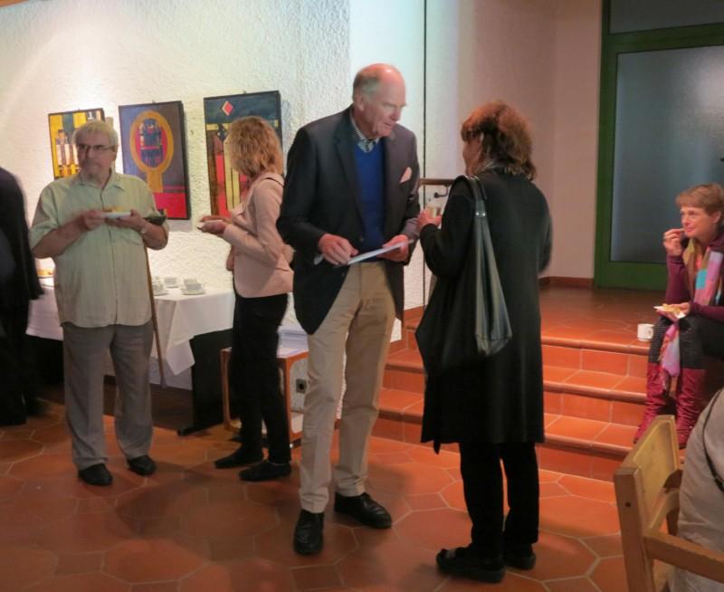 Wilhelm Peters (Glasmalerei Peters) im Gespräch mit Dorit Croissier