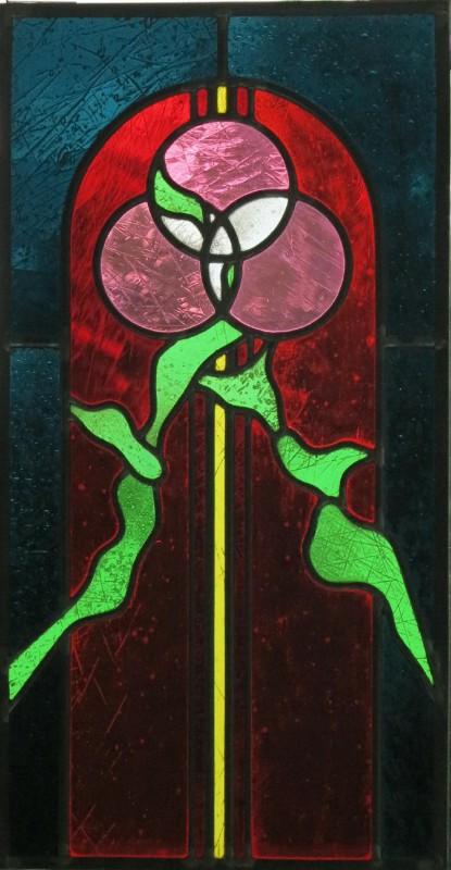 """Siemsen, Burkhard """"Pfingsten"""" 2009 verbleites Glasbild mit partieller Strukturwischung, Glasmalerei Derix, D´dorf-Kaiserswerth"""