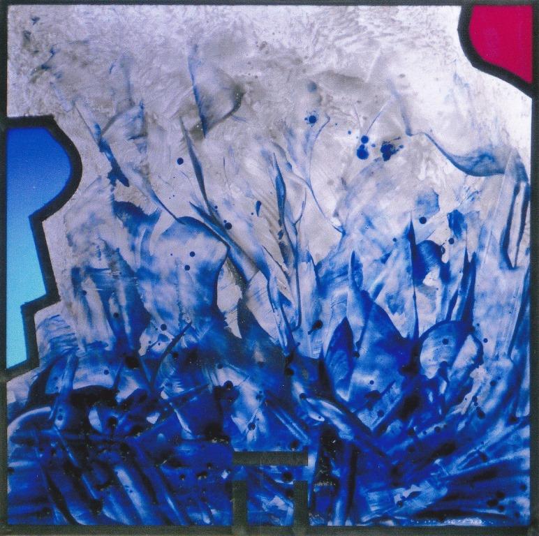 Krause-Rischard, Oswald o.T., 2007 Malerei mit Metalloxyden, bei ca. 580 Grad eingebrannt, verbleit Ausführung:Oswald Krause-Rischard