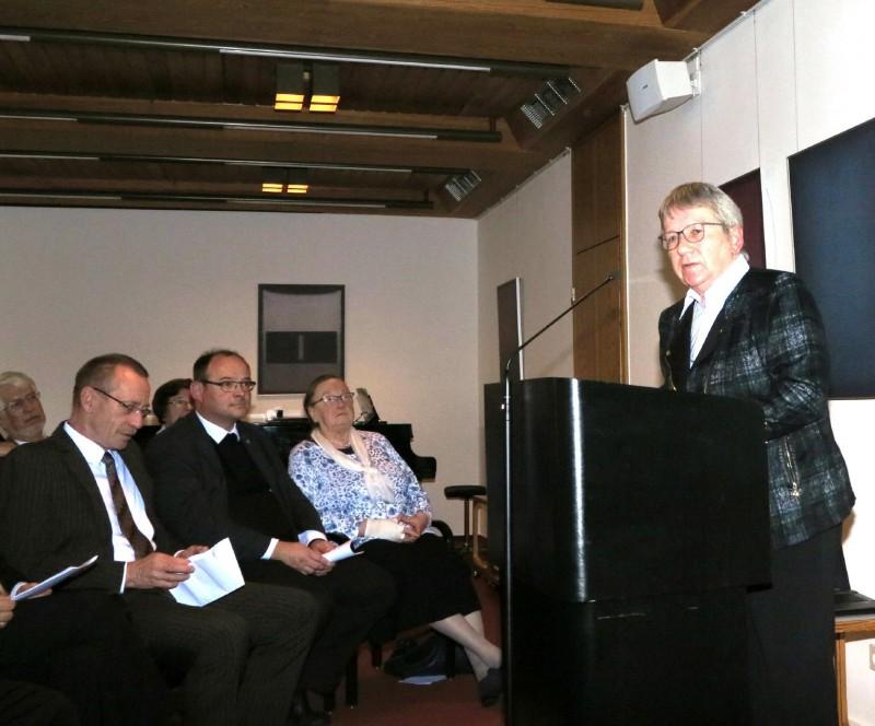 Prof. Dr. jur. Ruth Rissing-van Saan beim Festvortrag