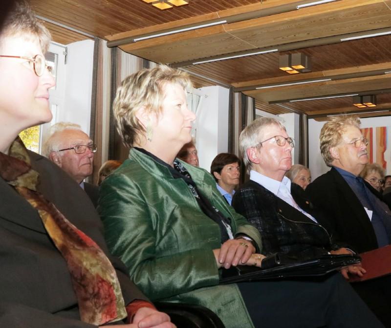 v.l.n.r. Lic. theol. Dorothee Mann, Ministerin Sylvia Löhrmann, Prof. Rissing-van Saan, Elmar Brok MdEP