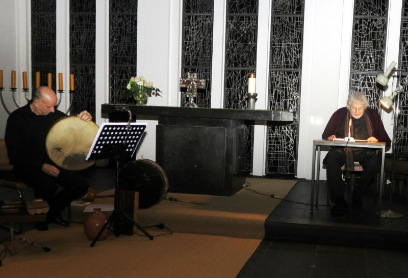 Lesung mit Prof. Heindrichs und Mike Turnbull, Percussion