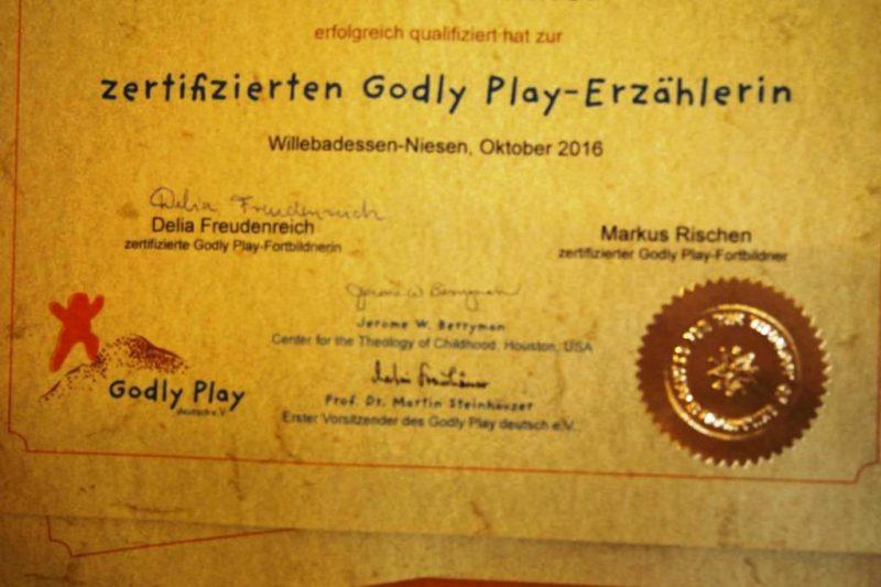 Das Godly-Play-Zertifikat