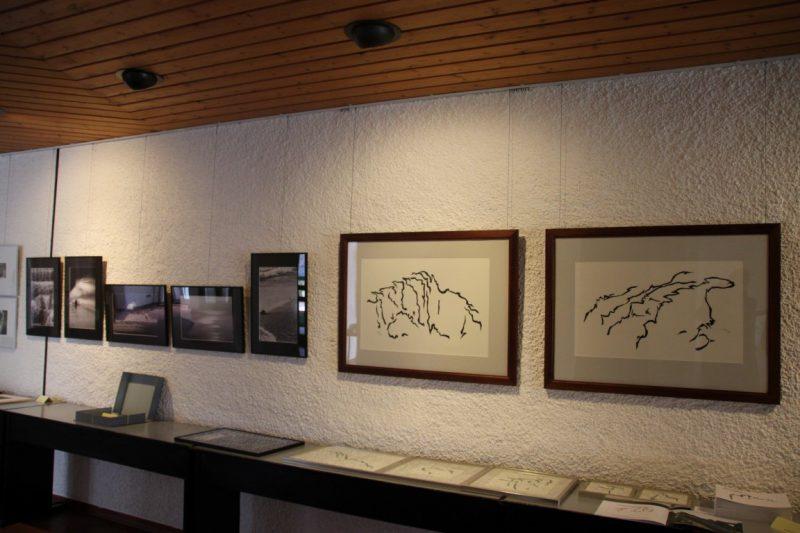 Blick in die Ausstellung mitgebrachter Arbeiten