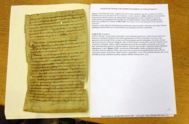 Einzelblatt einer alten Handschrift