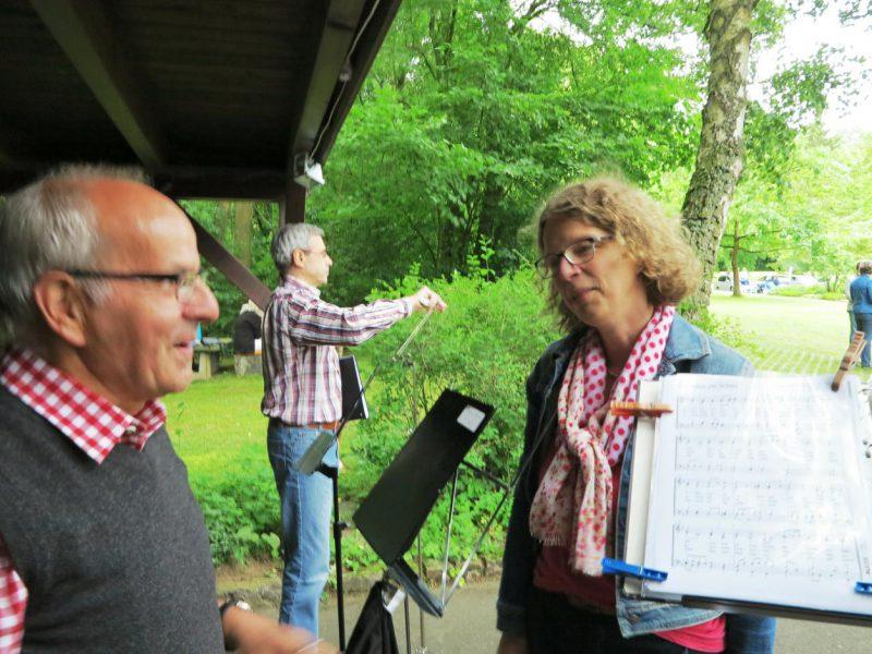 Dr. Unger vom Bläserkreis Höxter mit Frau Dr. Kirsch