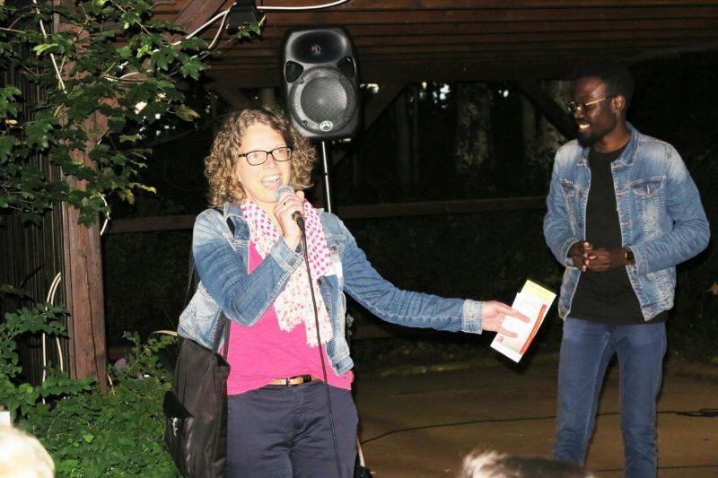 Frau Dr. Kirsch dankt Jires da Costa