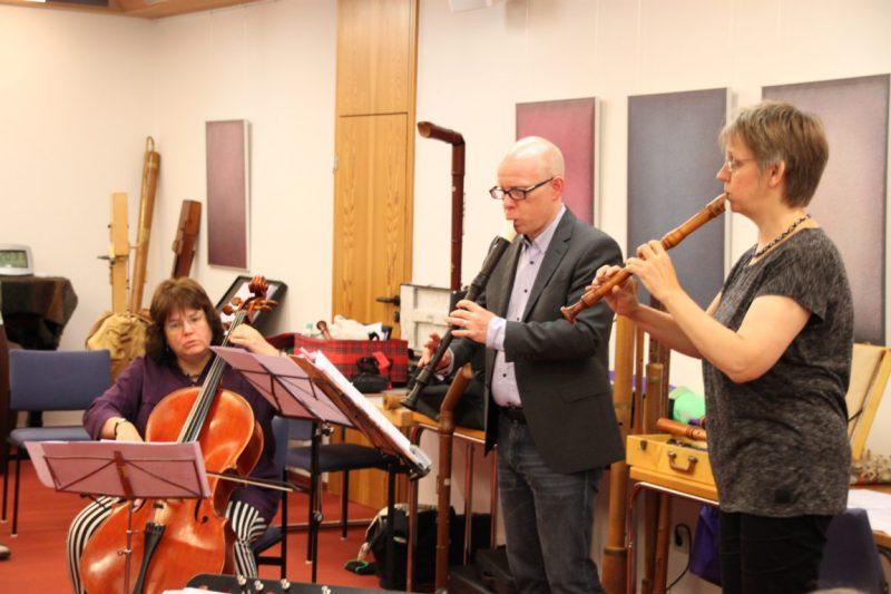 Monika Kasper (Cello), Frank Oberschelp und Angela Eling
