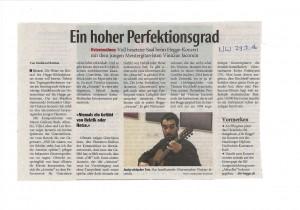 Osterkonzert 2016 - Zeitungsartikel