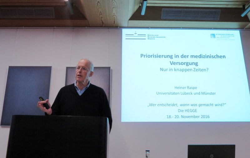 Prof. Dr. med. Dr. phil. Heiner Raspe