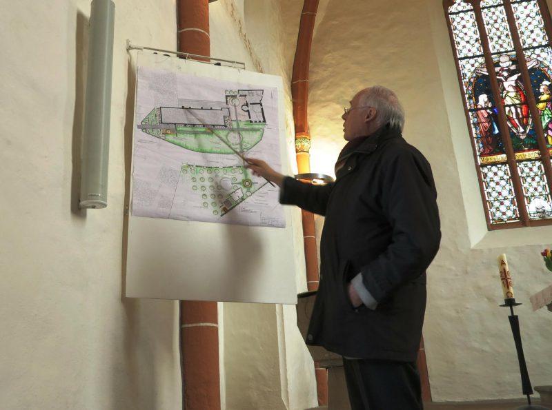 Die Bau-und Umbaupläne werden erläutert