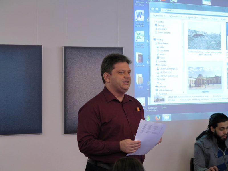 Damian Lazarek bei der Schlußrunde