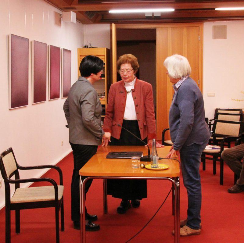 Pausengespräche: Christine Lieberknecht, Dr. Anna Ulrich, Die Hegge und eine Teilnehmerin