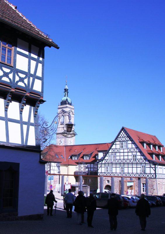 Blick vom Lutherhaus zur Georgenkirche