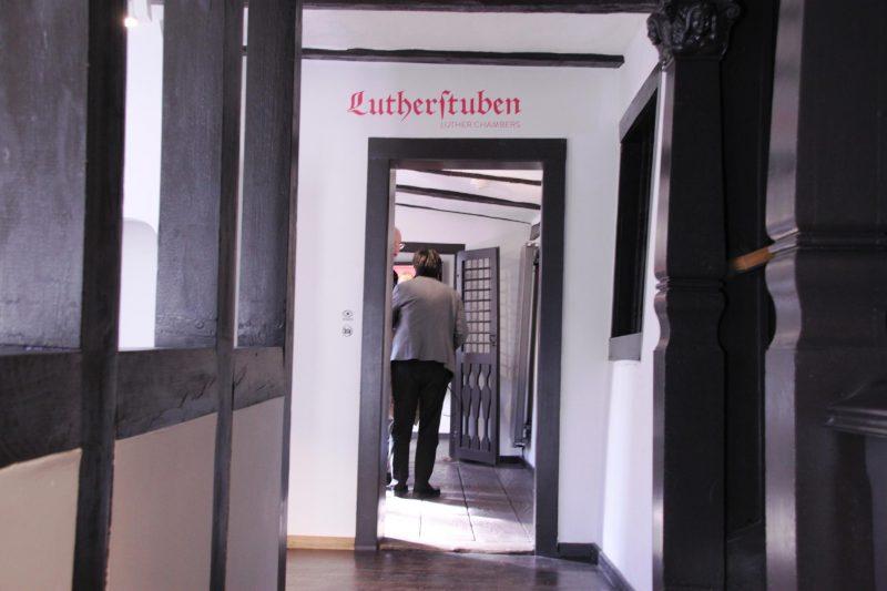 Eingang in die Lutherstube im Lutherhaus