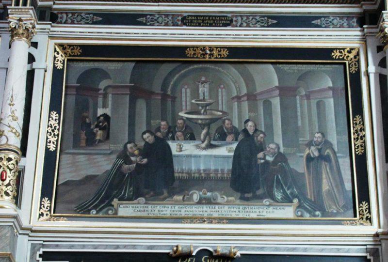 Bekenntnisbild im Chorraum der Georgenkirche