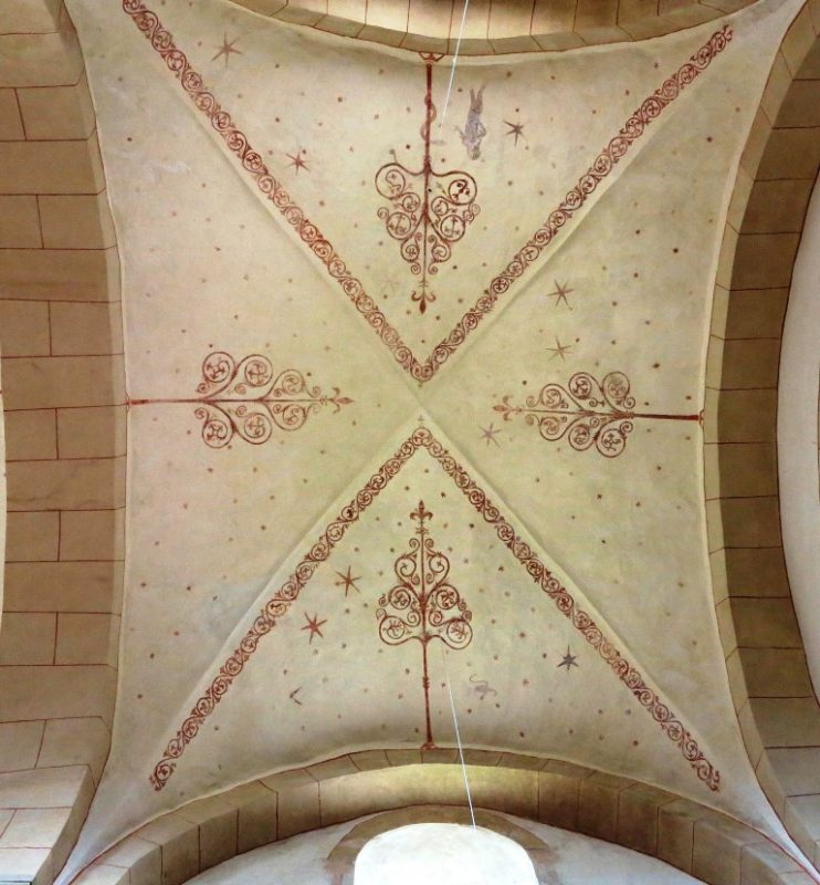 Reich freskiertes Deckengewölbe