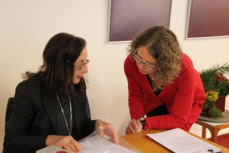 Prof. Dr. Eveline Goodman Thau und Dr. Anne Kirsch im Gespräch
