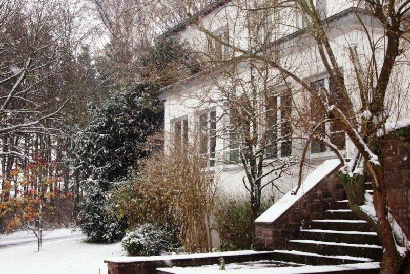 Der Heimweg führte über schneebedeckte Wege