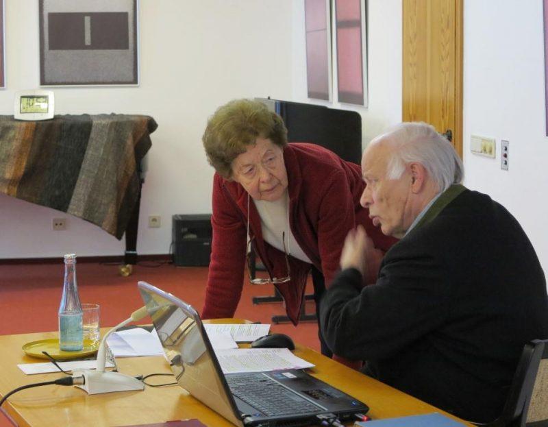 Dr. Anna Ulrich und Prälat Theodor Ahrens