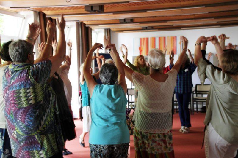 Tanzbegeisterte Frauen