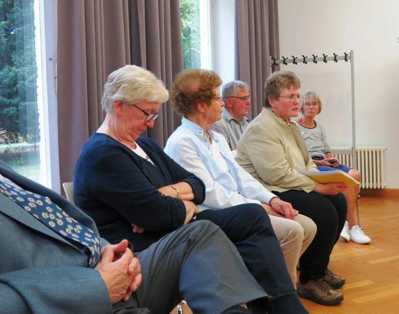 Vortragsrunde mit Prof. Ringshausen