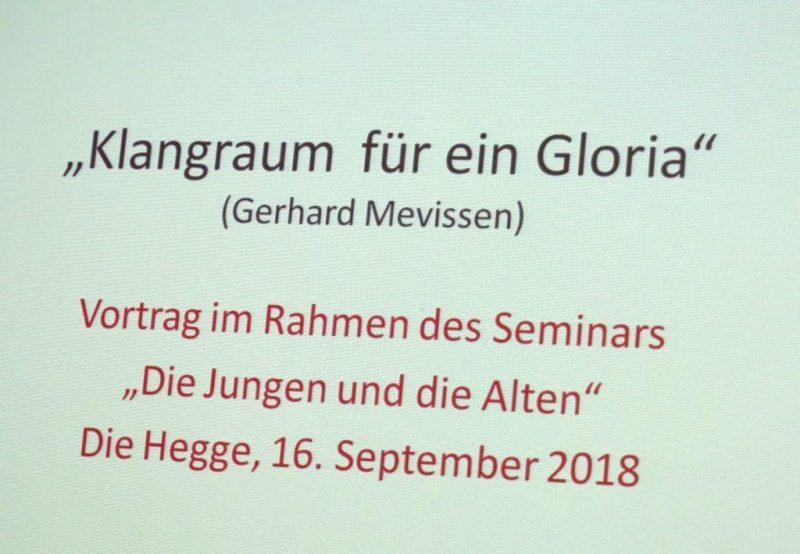Vortrag von Sr. Hildegard