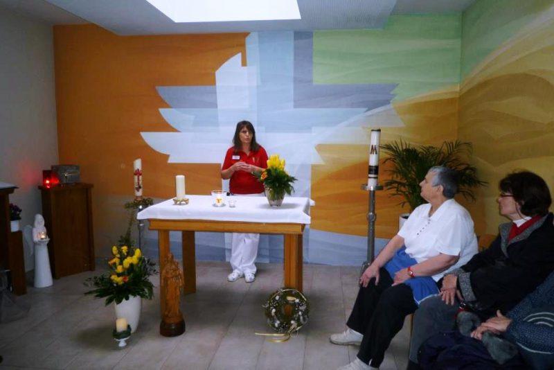 Sr. Birgit Brauner im Hospiz Mutter der Barmherzigkeit