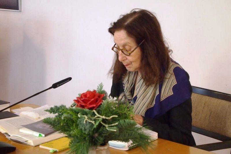 Frau Prof. Dr. Eveline Goodman-Thau beim Vortrag