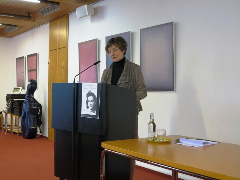 Maria Anna Stommel stellt das Tagebuch der Hélène Berr vor.