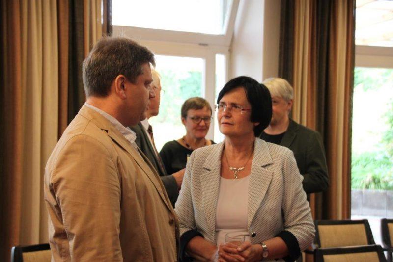 Damian Lazarek und Christine Lieberknecht