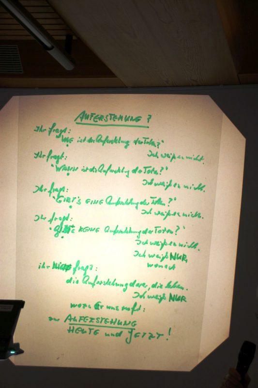 Version eines Gedichts von K. Marti