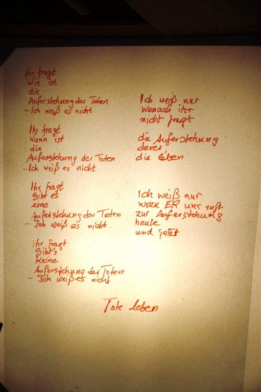 Andere Version des Gedichts