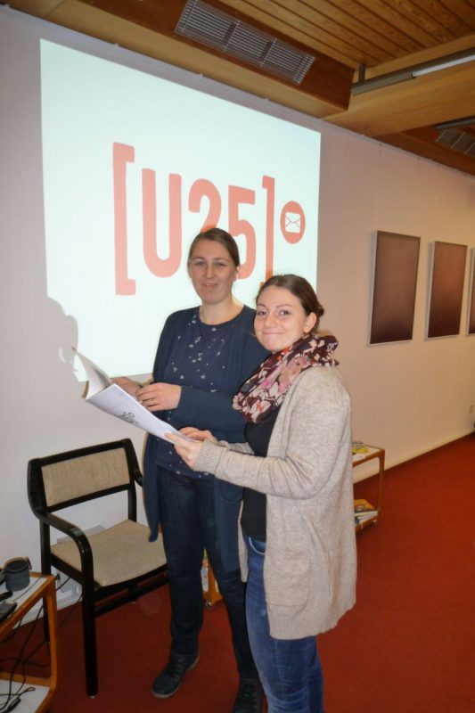 Katharina Groppe und Inken Fuchs von der Onlineberatung U25