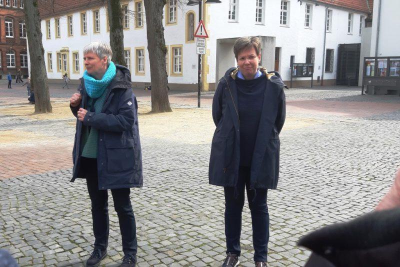 Bärbel Lödige und Susanne Kochannek, vom CityKloster-Team