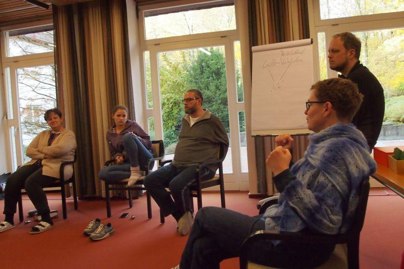Die Referenten im Gespräch: Christiane Zimmermann-Fröb, Markus-Rischen