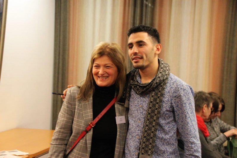 Aeham Ahmad am Klavier Aeham Ahmad mit der Leiterin des KI Filiz Elüstü