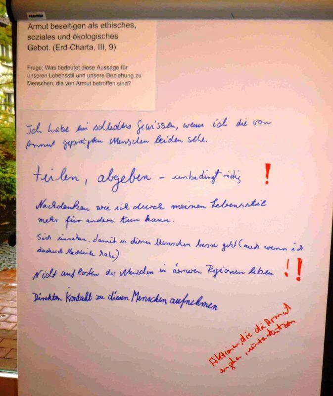 Erd-Charta: Was sagten die Aussagen mir