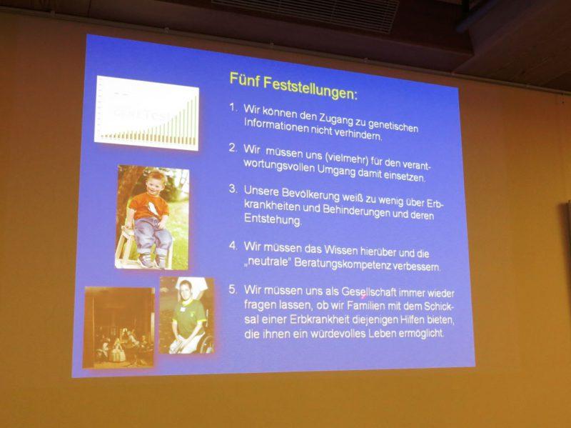 Vortrag Prof. Zerres: Wichtige Feststellungen